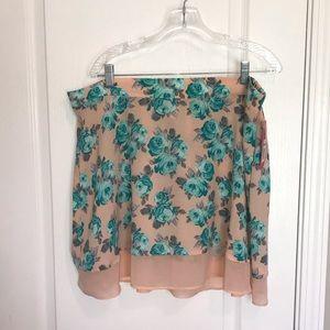 Women's Xhilaration Floral Skirt NWT